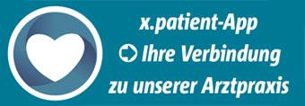 Xpatient logo Ihre Verbindung mit unserer Arztpraxis
